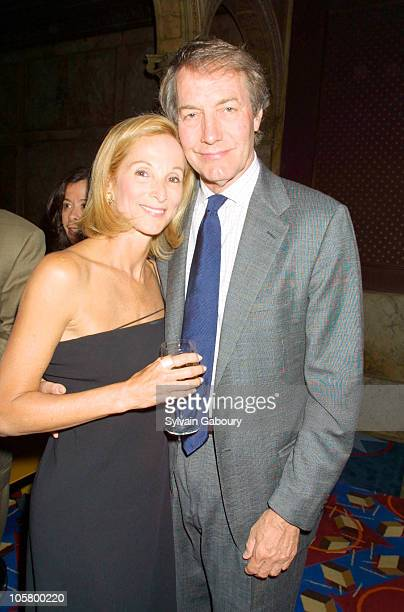 Amanda Burden and Charlie Rose during TNT's 'James Dean' Premiere Afterparty at Le Cirque in New York City New York United States