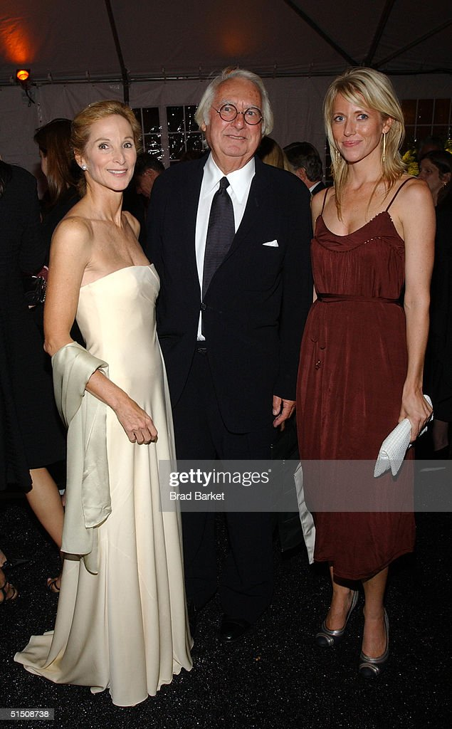 Amanda Burden, Richard Meier and Amy Swift arrive at the Cooper-Hewitt Museum's Fifth Annual National Design Awards Gala after party on October 19, 2004 in New York City.