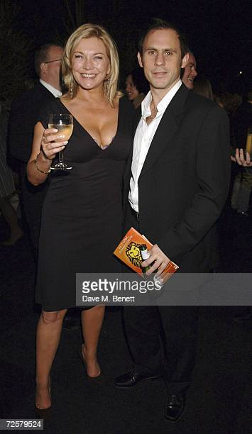 Amanda Burton and partner attend the after party following the press night of 'The Sound Of Music' at Billingsgate Market on November 15 2006 in...