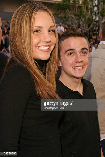 Amanda Bynes and Frankie Muniz during X2 XMen United Premiere Los Angeles Blue Carpet Arrivals at Grauman's Chinese Theatre in Hollywood California...