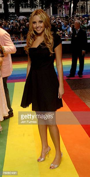 Amanda Bynes arrives at the World Premiiere of 'Hairspray' 5th July 2007 at the Odeon West End London Photo by Jon Furniss/Wireimage