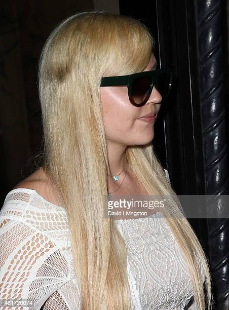 Amanda Bynes attends the Michael Costello and Style PR Capsule Collection launch party on July 23 2015 in Los Angeles California