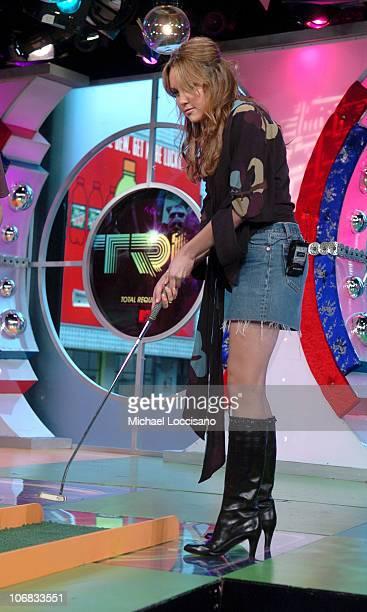 Amanda Bynes during Amanda Bynes Shia LaBeouf and Raven Symone Vist MTV's TRL Spetember 29 2005 at MTV Studios Times Square in New York City New York...
