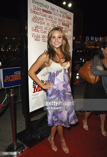 """Amanda Bynes during DreamWorks' """"She's the Man"""" Los Angeles Premiere - Red Carpet at Mann's Village in Westwood, California, United States."""