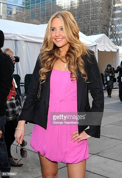 Amanda Bynes seen around Bryant Park during MercedesBenz Fashion Week Fall 2009 on February 13 2009 in New York City