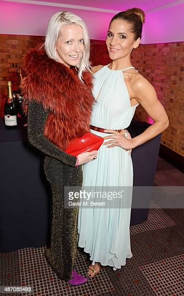 Amanda Byram and Jakki Healy attend the BAFTA Television Craft Awards at The Brewery on April 27, 2014 in London, England.