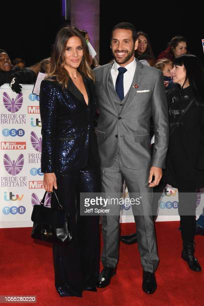 Amanda Byram and Julian Okines attend the Pride of Britain Awards 2018 at The Grosvenor House Hotel on October 29 2018 in London England