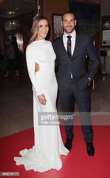 Amanda Byram and Julian Okines attend the Pride of Ireland awards at Hilton Doubletree Dublin on September 12 2016 in Dublin Ireland