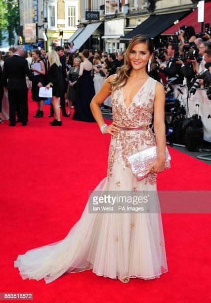 Amanda Byram arriving for the 2014 Arqiva British Academy Television Awards at the Theatre Royal Drury Lane London