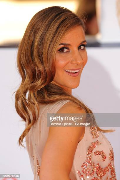 Amanda Byram arriving for the 2014 Arqiva British Academy Television Awards at the Theatre Royal Drury Lane London