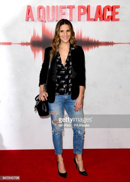 Amanda Byram attending the A Quiet Place VIP fan screening held at the Curzon Soho in London