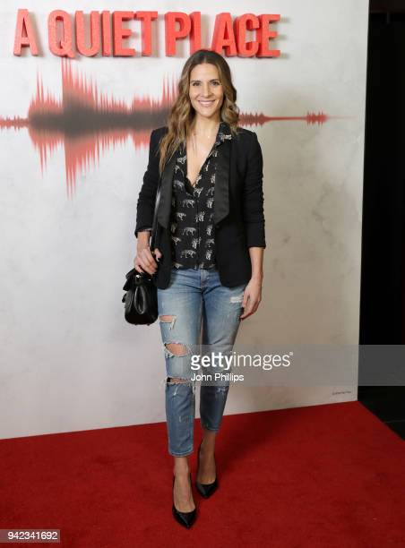 Amanda Byram attends 'A Quiet Place' screening at the Curzon Soho on April 5 2018 in London England