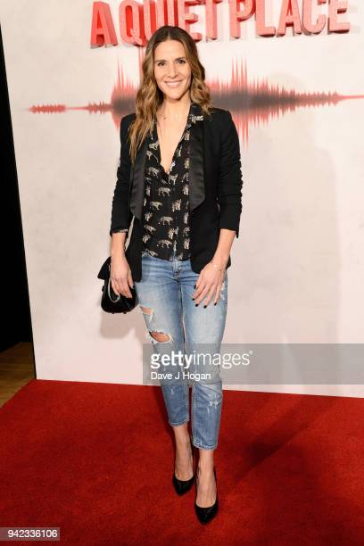 Amanda Byram attends a screening of 'A Quiet Place' at Curzon Soho on April 5 2018 in London England