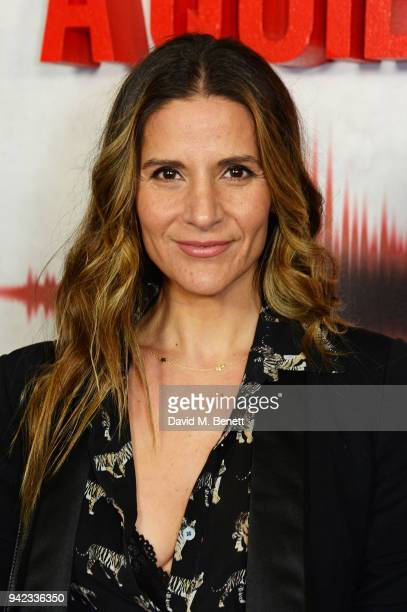 Amanda Byram attends an immersive fan screening of 'A Quiet Place' at The Curzon Soho on April 5 2018 in London England