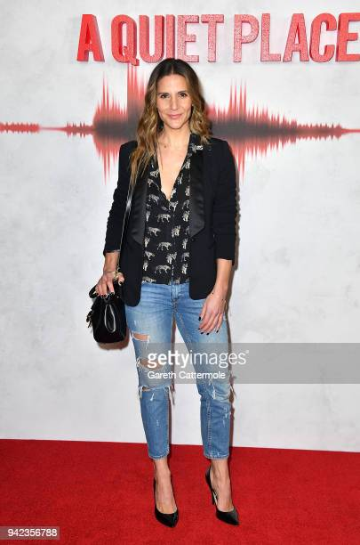 Amanda Byram attends an immersive VIP Fan Screening of 'A Quiet Place' on April 5 2018 in London England