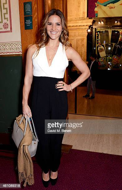 Amanda Byram attends the VIP performance of 'Kooza' by Cirque Du Soleil at Royal Albert Hall on January 6 2015 in London England