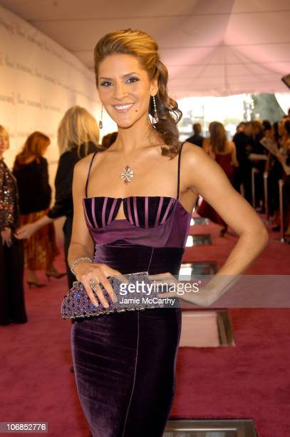 Amanda Byram during 13th Annual Elton John AIDS Foundation Oscar Party Cohosted by Chopard Red Carpet at Pacific Design Center in West Hollywood...