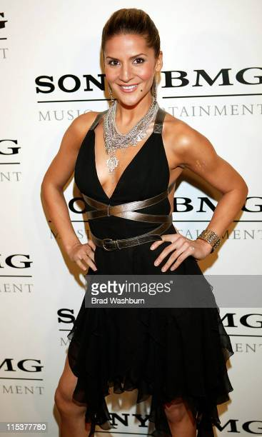 Amanda Byram during 2005 Sony/BMG Post GRAMMY Awards Party at Roosevelt Hotel in Los Angeles California United States