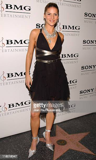 Amanda Byram during Sony/BMG Music Entertainment 2005 After GRAMMY Awards Party Arrivals at Hollywood Roosevelt Hotel in Hollywood California United...