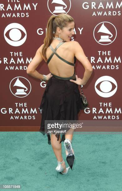Amanda Byram during The 47th Annual GRAMMY Awards Arrivals at Staples Center in Los Angeles California United States