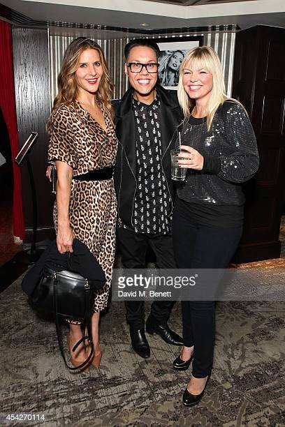 Amanda Byram Gok Wan and Kate Thornton attend an after party celebrating the press night performance of 'Some Girl I Used To Know' at the Hippodrome...