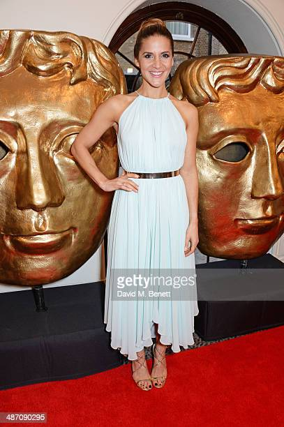 Amanda Byram poses in the press room at the BAFTA Television Craft Awards at The Brewery on April 27 2014 in London England