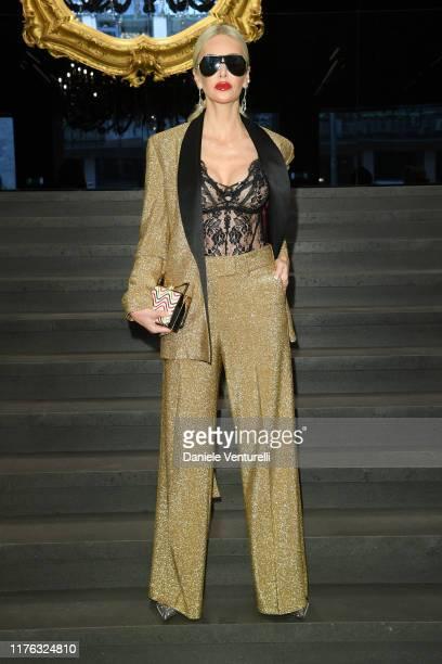 Amanda Caroline Cronin attends Dolce & Gabbana - Front Row - Milan Fashion Week Spring/Summer 2020 on September 22, 2019 in Milan, Italy.