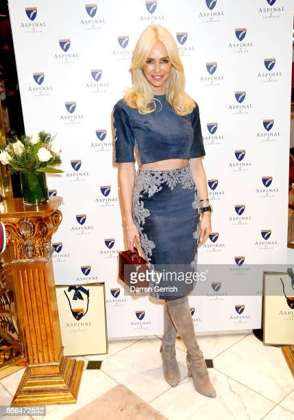 Amanda Caroline Cronin attends the new flagship store launch of Aspinal on Regent's Street St James's on December 5 2017 in London England
