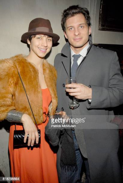 Amanda Carter and Chris Wallace attend BARNEYS NEW YORK Launch of RICHARD CHAI LOVE at White Slab Palace on February 14 2010 in New York City