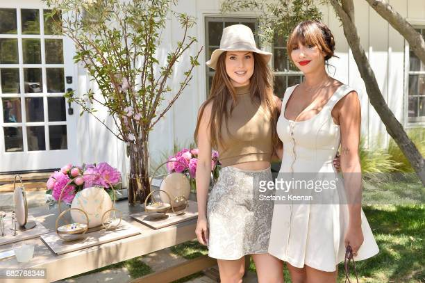 Amanda Cerny and Jackie Cruz attend Cindy Crawford and Kaia Gerber host Best Buddies Mother's Day Brunch in Malibu, CA sponsored by David Yurman on...