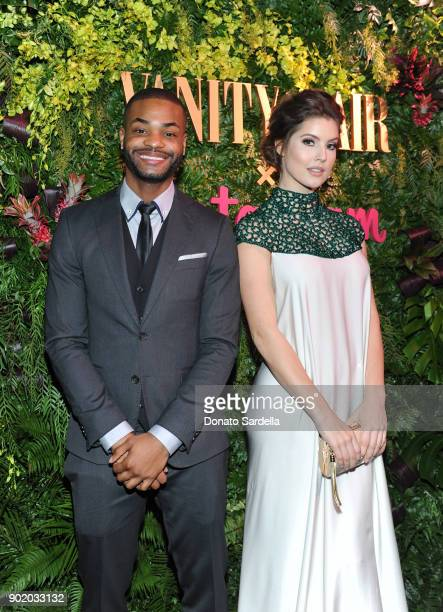Amanda Cerny and King Bach attend Vanity Fair x Instagram Celebrate the New Class of Entertainers at Mel's Diner on Golden Globes Weekend at Mel's...