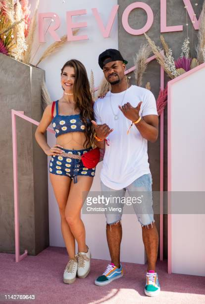 Amanda Cerny and King Bach seen at Revolve Festival during Coachella Festival on April 14 2019 in La Quinta California