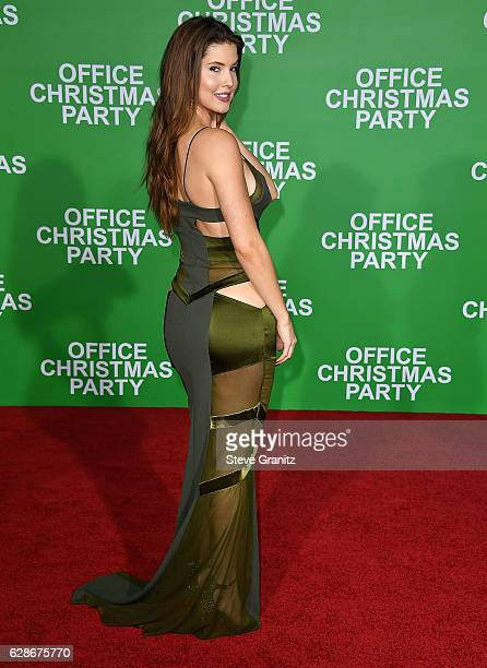 Amanda Cerny arrives at the Premiere Of Paramount Pictures' Office Christmas Party at Regency Village Theatre on December 7 2016 in Westwood...