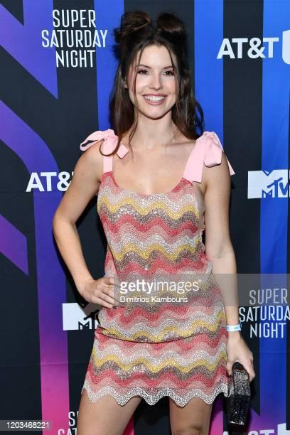 Amanda Cerny attends ATT TV Super Saturday Night at Meridian at Island Gardens on February 01 2020 in Miami Florida