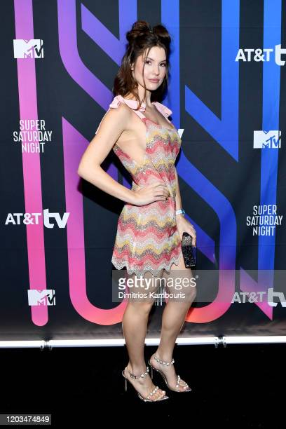 Amanda Cerny attends ATT TV Super Saturday Night at Meridian at Island Gardens on February 01 2020 in Miami Florida