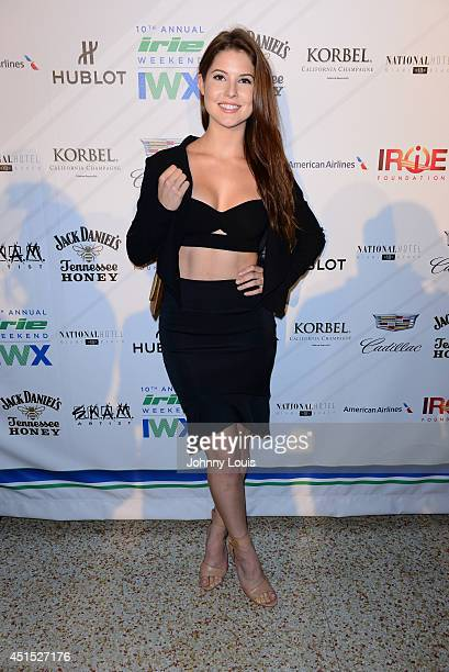 Amanda Cerny attends DJ Irie Weekend VIP Kickoff Reception at National Hotel on June 19 2014 in Miami Beach Florida