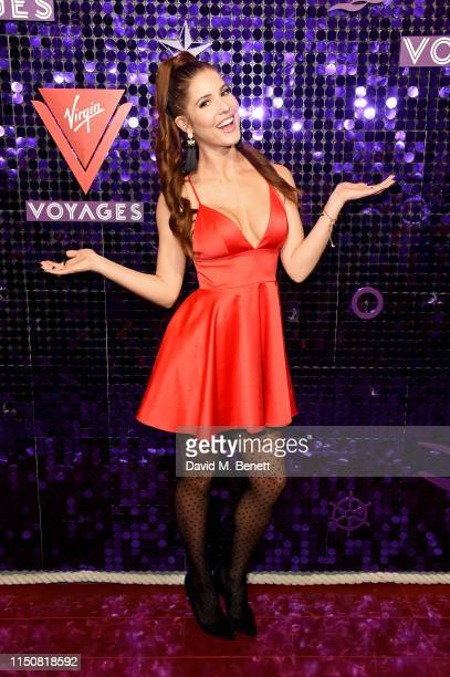 Amanda Cerny attends Scarlet Night in London as Virgin Voyages previews the signature onboard event in the UK ahead of official launch in 2020 on May...