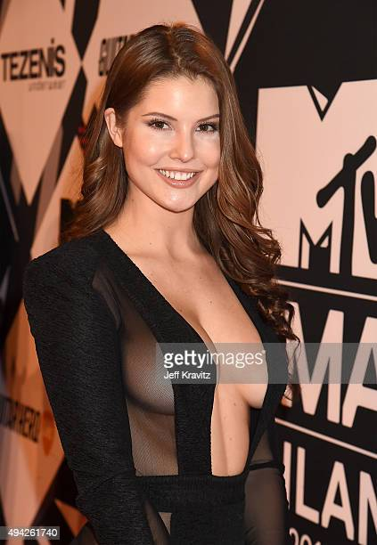 Amanda Cerny attends the MTV EMA's 2015 at Mediolanum Forum on October 25 2015 in Milan Italy