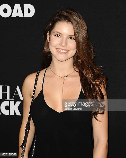 Amanda Cerny attends the premiere of Fifty Shades of Black at Regal Cinemas LA Live on January 26 2016 in Los Angeles California