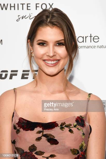 Amanda Cerny attends White Fox Boutique Swimwear Launch Of 100% Salty at Catch on July 26 2018 in West Hollywood California