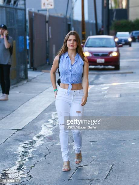 Amanda Cerny is seen arriving at the 'Jimmy Kimmel Live' on June 13 2018 in Los Angeles California