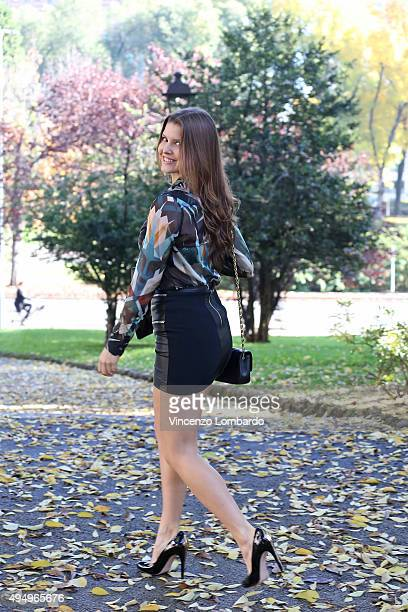 Amanda Cerny is seen on October 30 2015 in Milan Italy