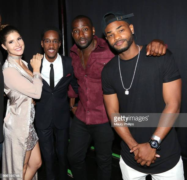 Amanda Cerny Lemuel Plummer Destorm Power and King Batch attend a celebration for The July 13th Global Launch of ZEUS presented by SAGAFTRA and The...