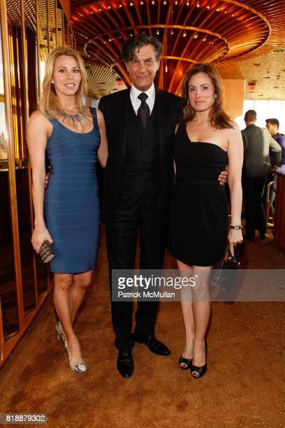 Amanda Church Alfredo Pecora and Vivian Bernal attend Bruce Levingston on Top of The Standard A Premiere Commission Gala at Boom Boom Room on April...