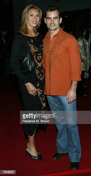 Amanda Church and Jeff Gordon attend the film premiere of 'Identity' at the Grauman's Chinese Theatre on April 23 2003 in Hollywood California The...