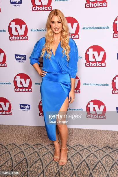 Amanda Clapham arrives at the TV Choice Awards at The Dorchester on September 4 2017 in London England