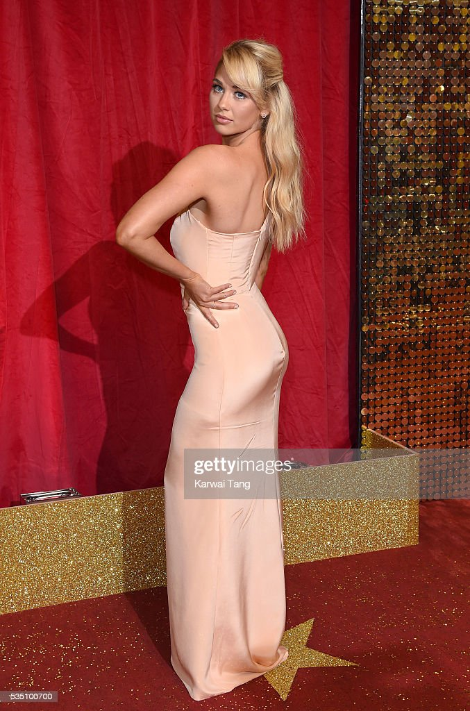 Amanda Clapham arrives for the British Soap Awards 2016 at the Hackney Town Hall Assembly Rooms on May 28, 2016 in London, England.