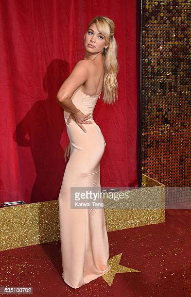 Amanda Clapham arrives for the British Soap Awards 2016 at the Hackney Town Hall Assembly Rooms on May 28 2016 in London England