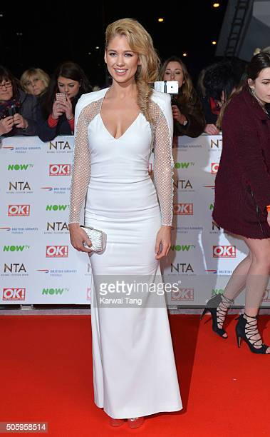 Amanda Clapham attends the 21st National Television Awards at The O2 Arena on January 20 2016 in London England
