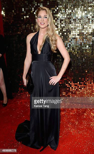 Amanda Clapham attends the British Soap Awards held at the Hackney Empire on May 24 2014 in London England